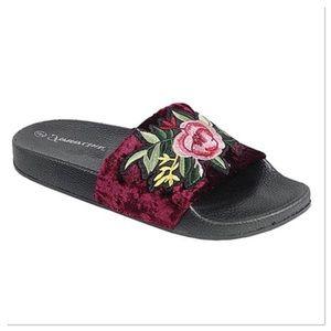 Burgundy Floral Sandal